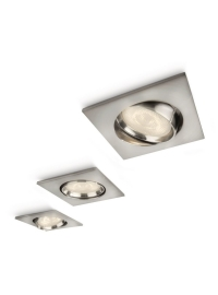 Galileo spot luminos incastrat LED nichel 3x4W