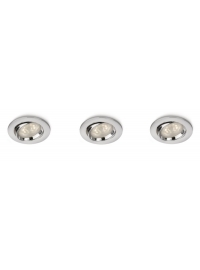 Ellipse spot luminos incastrat LED crom 3x4W
