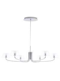 Lustra NOVENTA LED 6X3.3W Crom/Transparent