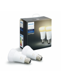 Set 2 becuri LED Philips Hue 9.5W E27 A60 White...