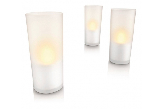 CandleLights white 3 set