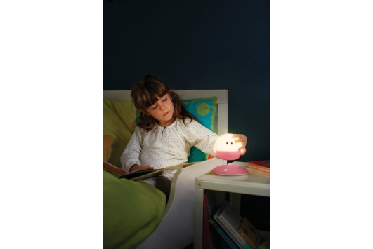Bollie table lamp LED pink 1x1W SEL
