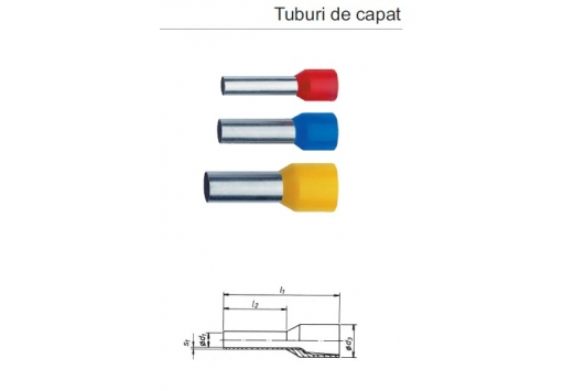 Tub de capat iz. 4mmp L-10mm, 1pac-100buc 474/10