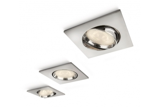 Galileo spot luminos incastrat LED crom 3x4W
