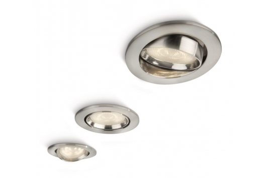 Ellipse spot luminos incastrat LED nichel 3x4W