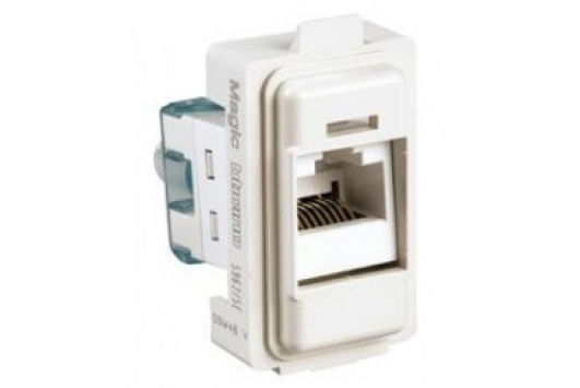 Priza de date  Magic Rj45 ,cat.5e,UTP, 1M,Alb