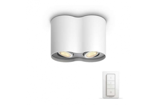 Spot luminos Pillar Hue Alb 2x5.5W 230V