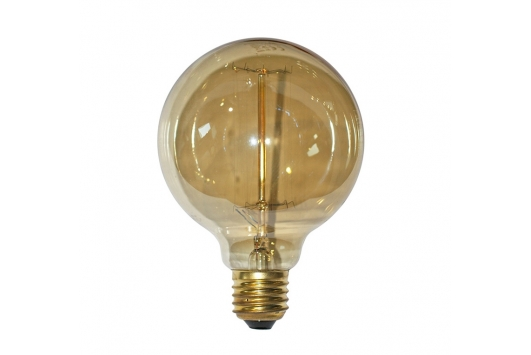 Bec decorativ Edison Glob D95mm 40W E27 2200K