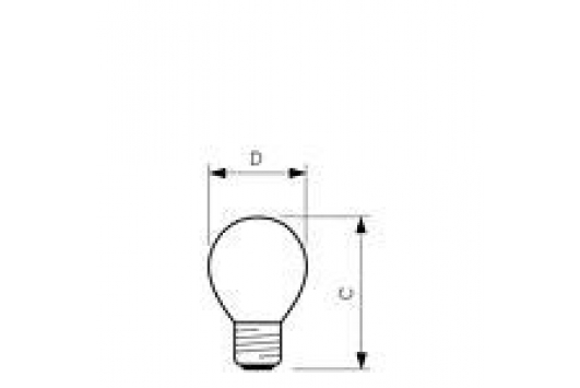 Lampa Incandescenta Party 15W E27 220-240V P45 YE 1CT/10X10F