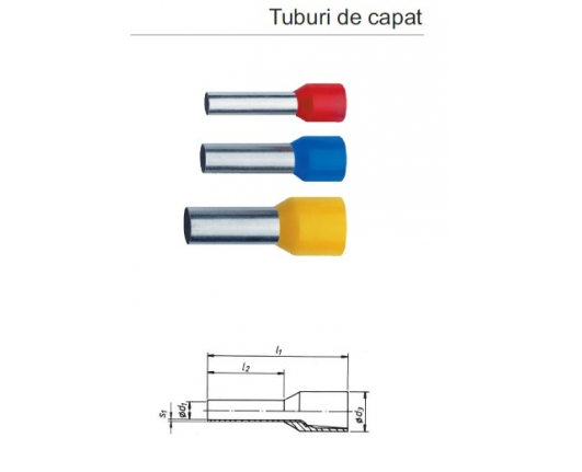 Tub de capat iz. 16mmp L-12mm, 1pac-100buc 477/12